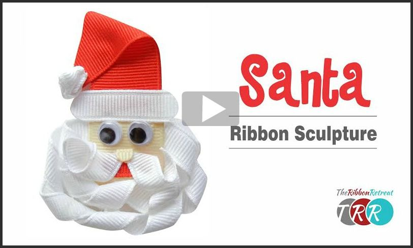 Santa Ribbon Sculpture, YouTube Video - The Ribbon Retreat Blog