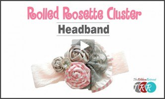 Rolled Rosette Cluster Headband, YouTube Video