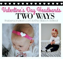 Valentine's Day Headbands, Two Ways
