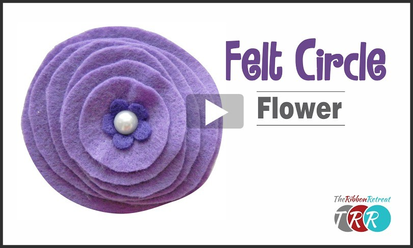 Circle Felt Flower, YouTube Video