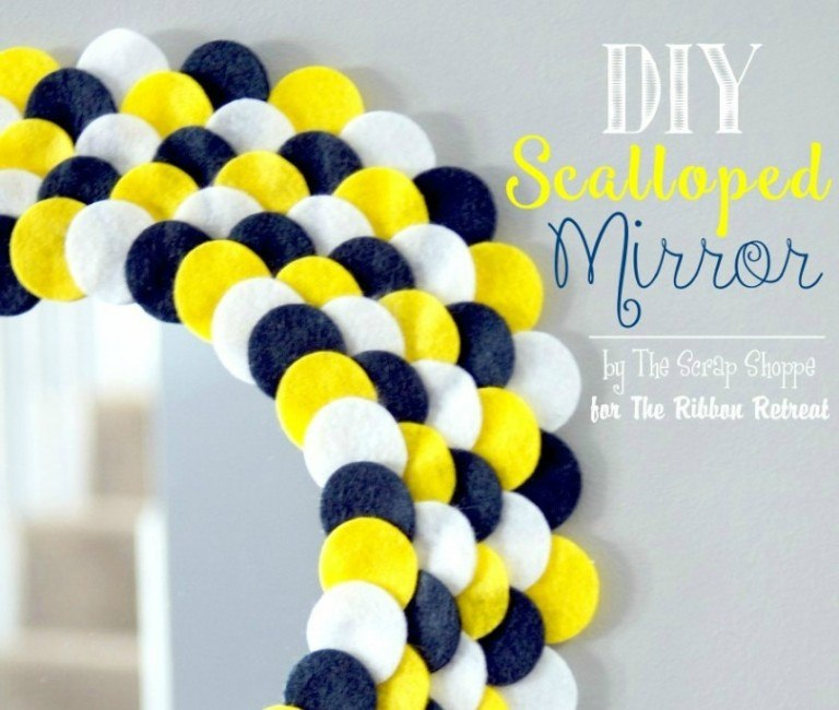DIY Scalloped Mirror - The Ribbon Retreat Blog