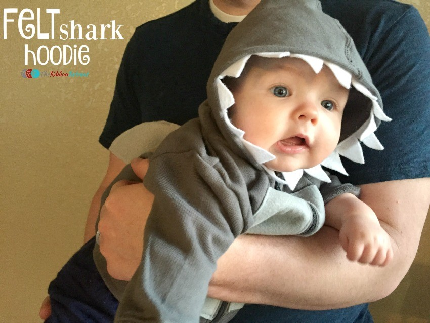 Felt Shark Hoodie - The Ribbon Retreat Blog