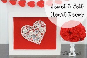 Jewel and Felt Heart Decor