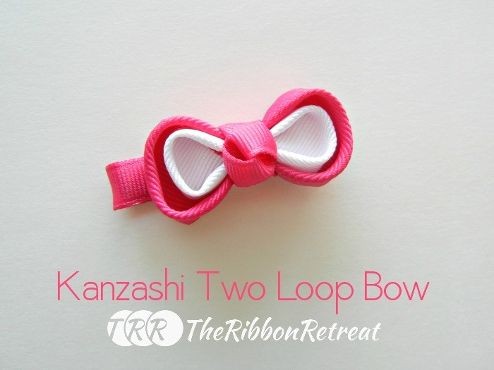 Kanzashi Two Loop Bow - The Ribbon Retreat Blog