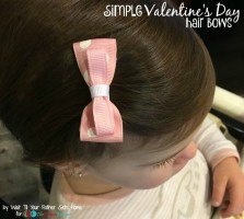 Simple Valentine's Day Inspired Bows