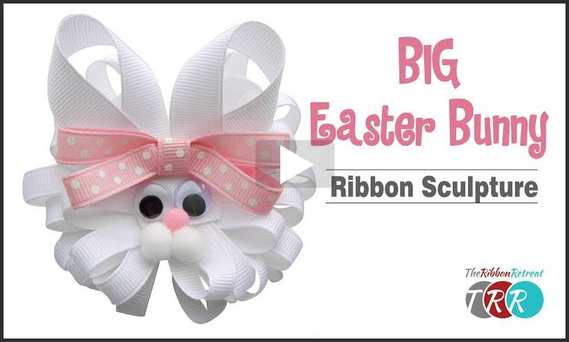 Big Easter Bunny Ribbon Sculpture, YouTube Video