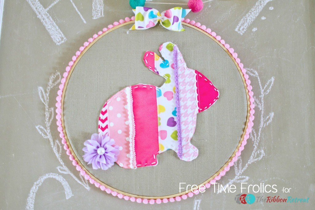 Ribbon Bunny Wall Hanging, 3rd Blogger Competition #3 - The Ribbon Retreat Blog