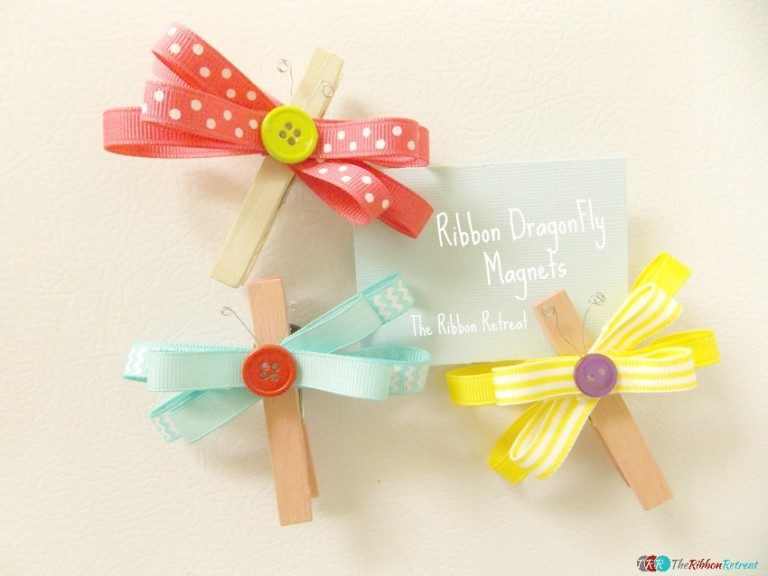 Ribbon Dragonfly Magnets - The Ribbon Retreat Blog