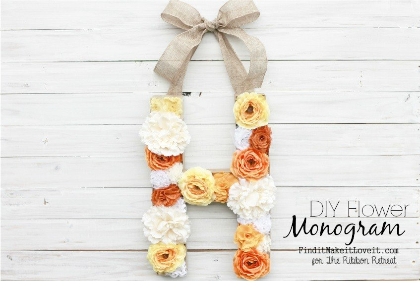 DIY Flower Monogram - The Ribbon Retreat Blog