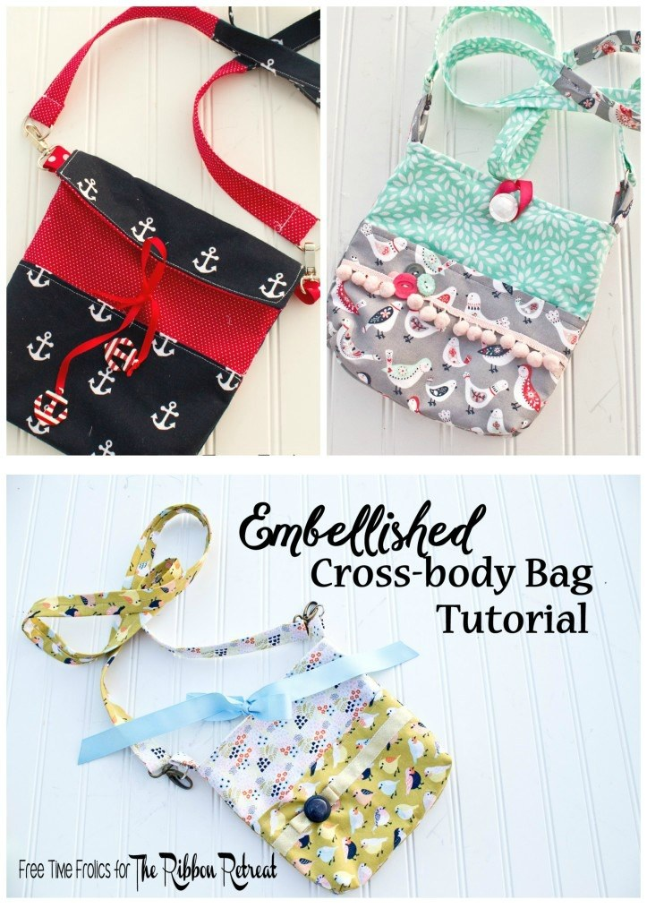 Embellished Cross Body Bag - The Ribbon Retreat Blog