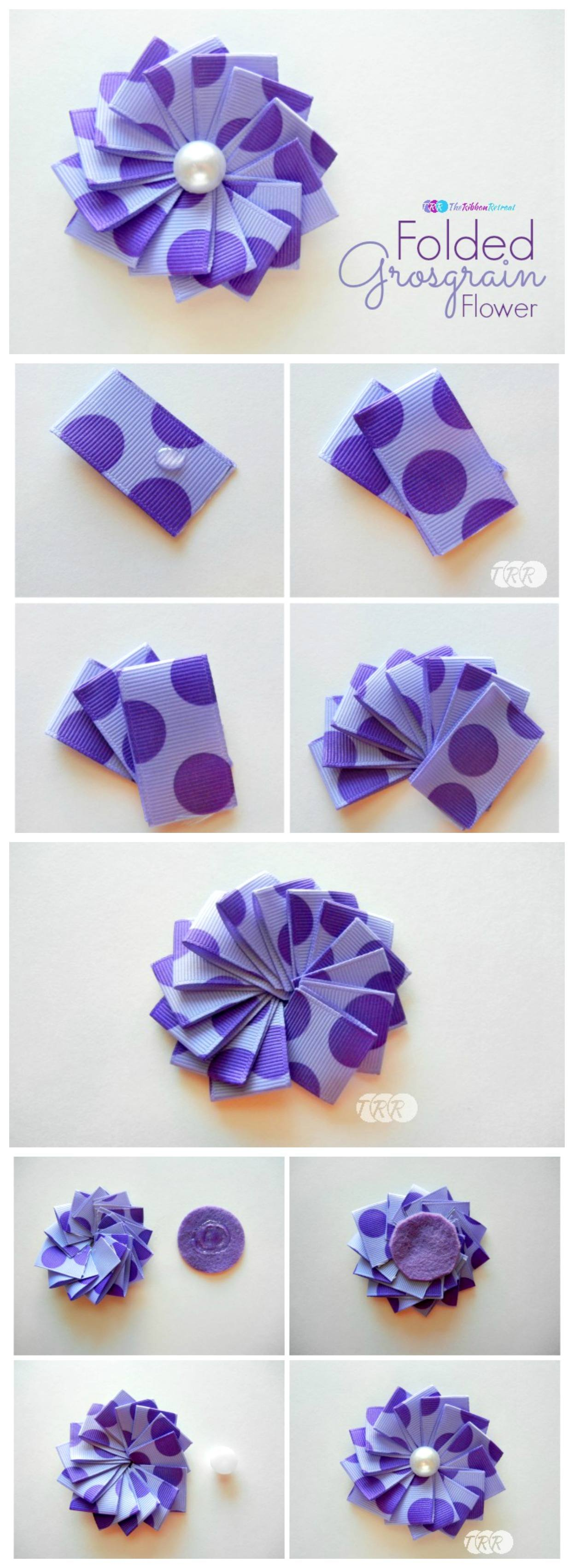 Folded Grosgrain Ribbon - The Ribbon Retreat Blog