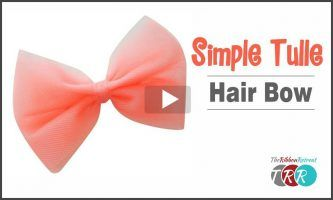 Simple Tulle Hair Bow, YouTube Video