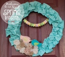 Welcome To Our Nest Spring Wreath