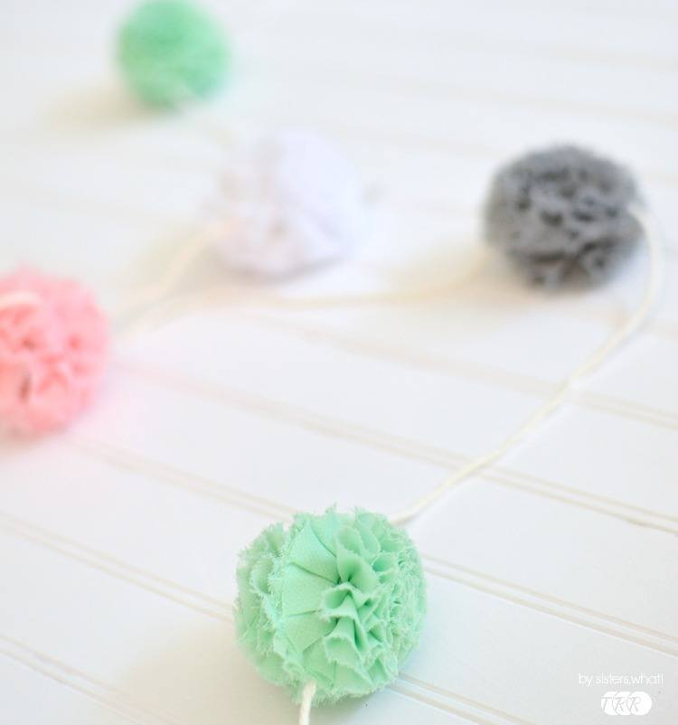 Tulle Flower Garland - The Ribbon Retreat Blog