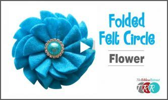 Folded Felt Circle Flower, YouTube Video