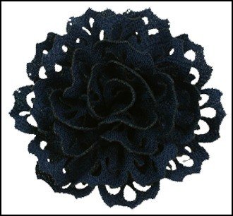 Navy Chateau Lace