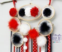 Patriotic Hoop Art, 4th Blogger Competition #1