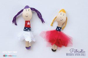 Easy DIY Patriotic Wooden Spoon Dolls, 4th Blogger Competition #2