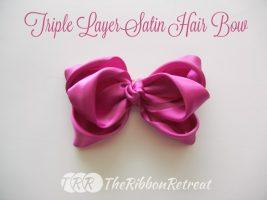 Triple Layer Satin Hair Bow