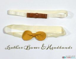 Leather Bows and Headbands