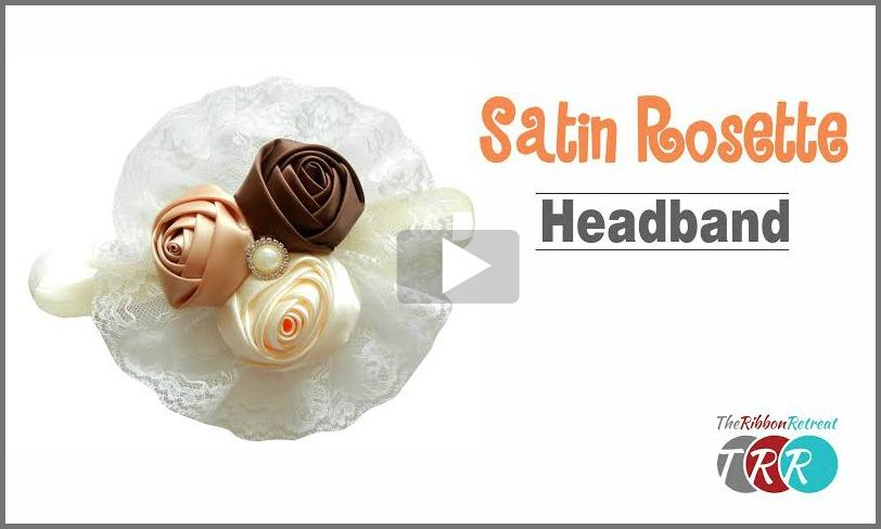 Satin Rosette Headband with Lace, YouTube Video