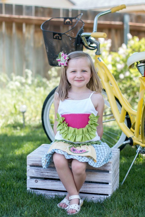 Watermelon Hair Bow and Tank - The Ribbon Retreat Blog