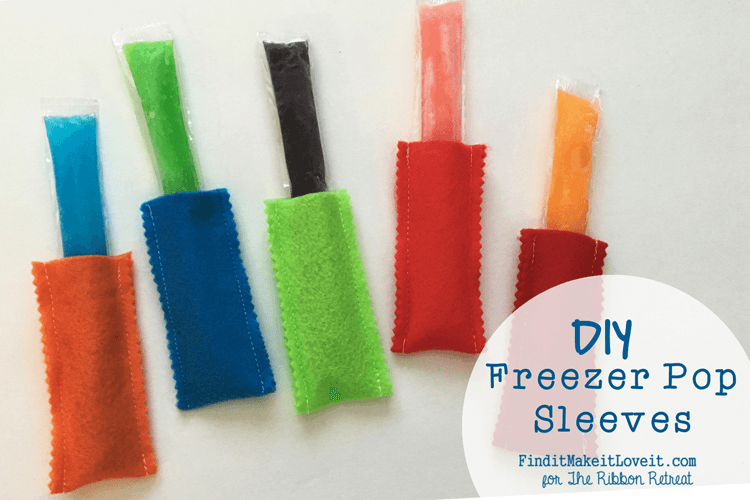 DIY Freezer Pop Sleeves - The Ribbon Retreat Blog