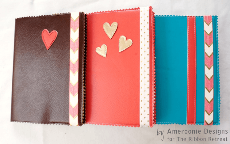 Faux Leather Book Cover - The Ribbon Retreat Blog