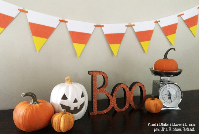 No Sew Candy Corn Banner - The Ribbon Retreat Blog