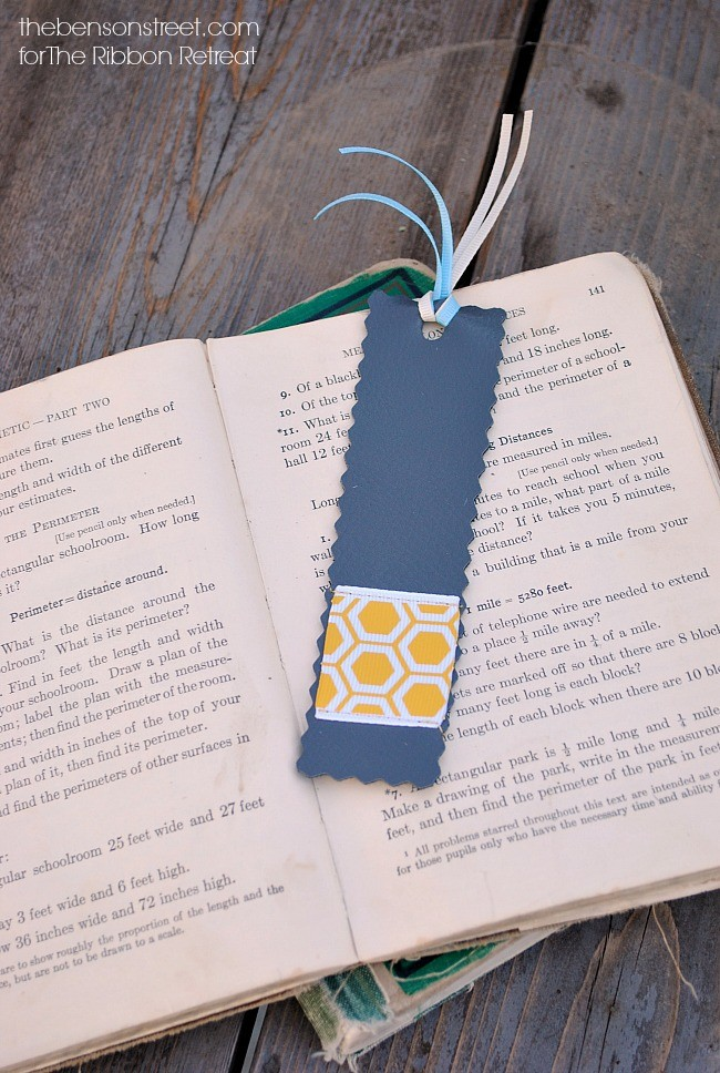 Faux Leather Bookmarks - The Ribbon Retreat Blog