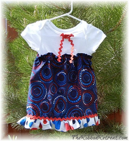 4th of July Onesie Dress - {The Ribbon Retreat Blog}