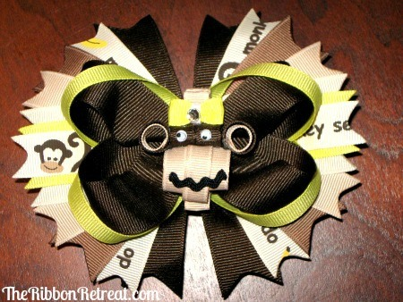 Adorable Monkey Bow - {The Ribbon Retreat Blog}