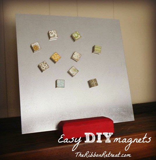 Alphabet tile magnets are super easy to make and are so fun! They make great gifts!