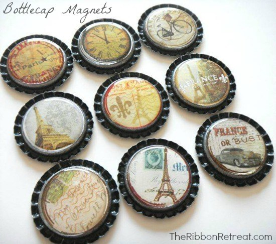 Easy to make and adorable to use, bottlecap magnets are so fun!