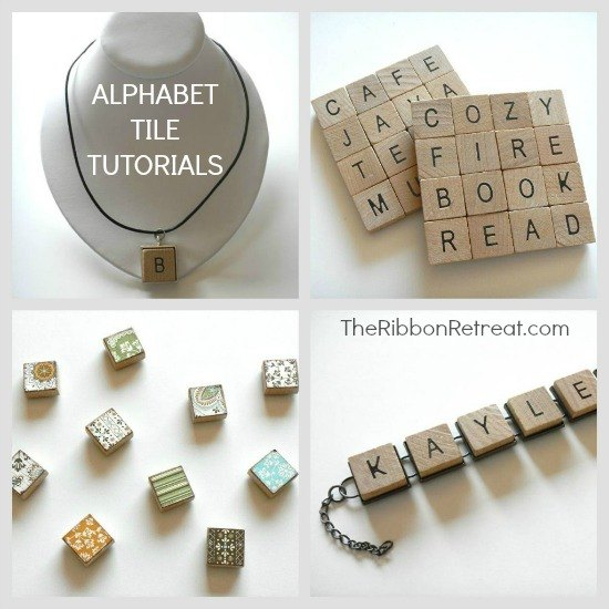 Alphabet tiles are so much fun and you can make so many things with them!