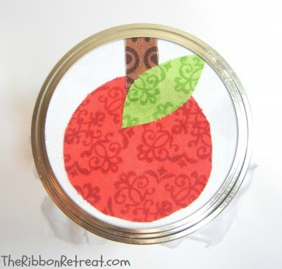 Applique Mason Jar Teacher Gift - {The Ribbon Retreat Blog}
