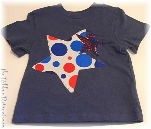 Applique Star Shirts - {The Ribbon Retreat Blog}