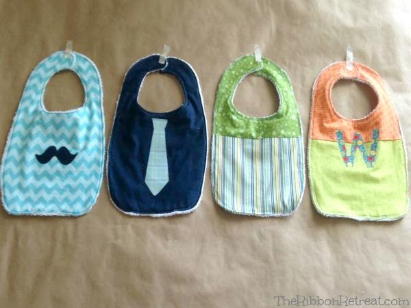 Appliqued Bib Tutorial - The Ribbon Retreat Blog
