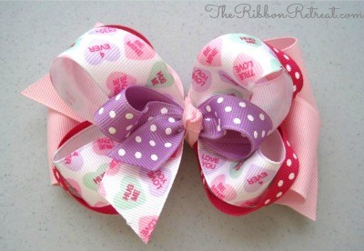 Be Mine Bow - {The Ribbon Retreat Blog}