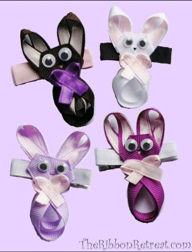 Bunny Hair Clip Tutorial - The Ribbon Retreat Blog