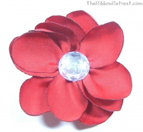 Burnt Petal Flower - {The Ribbon Retreat Blog}