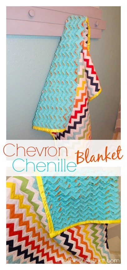 Chevron Chenille Blanket - The Ribbon Retreat Blog