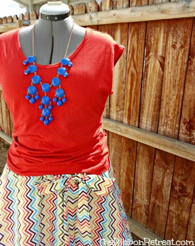 Chevron Twirl Skirt Tutorial - The Ribbon Retreat Blog
