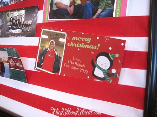 Christmas Card Holder - {The Ribbon Retreat Blog}
