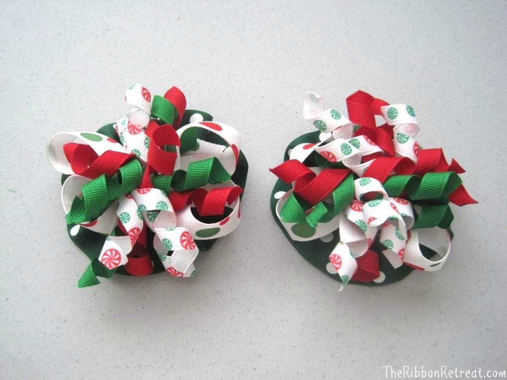 Christmas Ruffle Bows - {The Ribbon Retreat Blog}