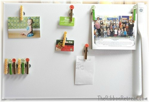 Clothespin Magnets - {The Ribbon Retreat Blog}
