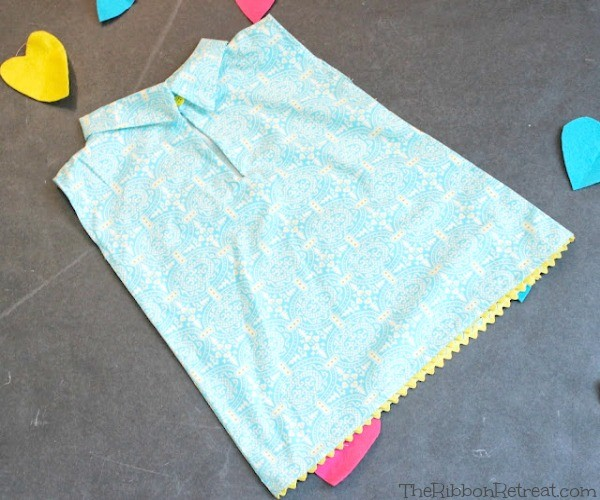 Collar Dress Tutorial - The Ribbon Retreat Blog