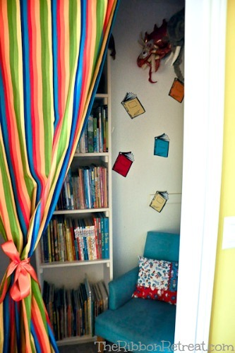Dr. Seuss Room Makeover #3, Colorful Curtain - The Ribbon Retreat Blog