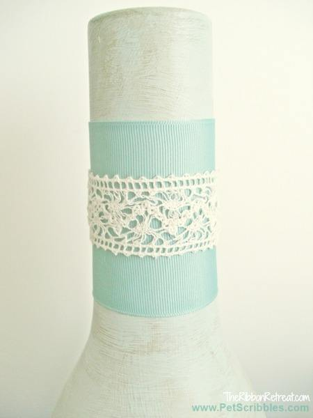 Ribbon and Lace Vase - The Ribbon Retreat Blog