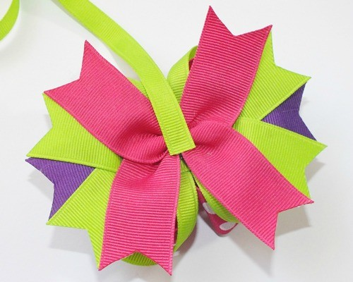 "Attach your 3/8"" ribbon to your bow."